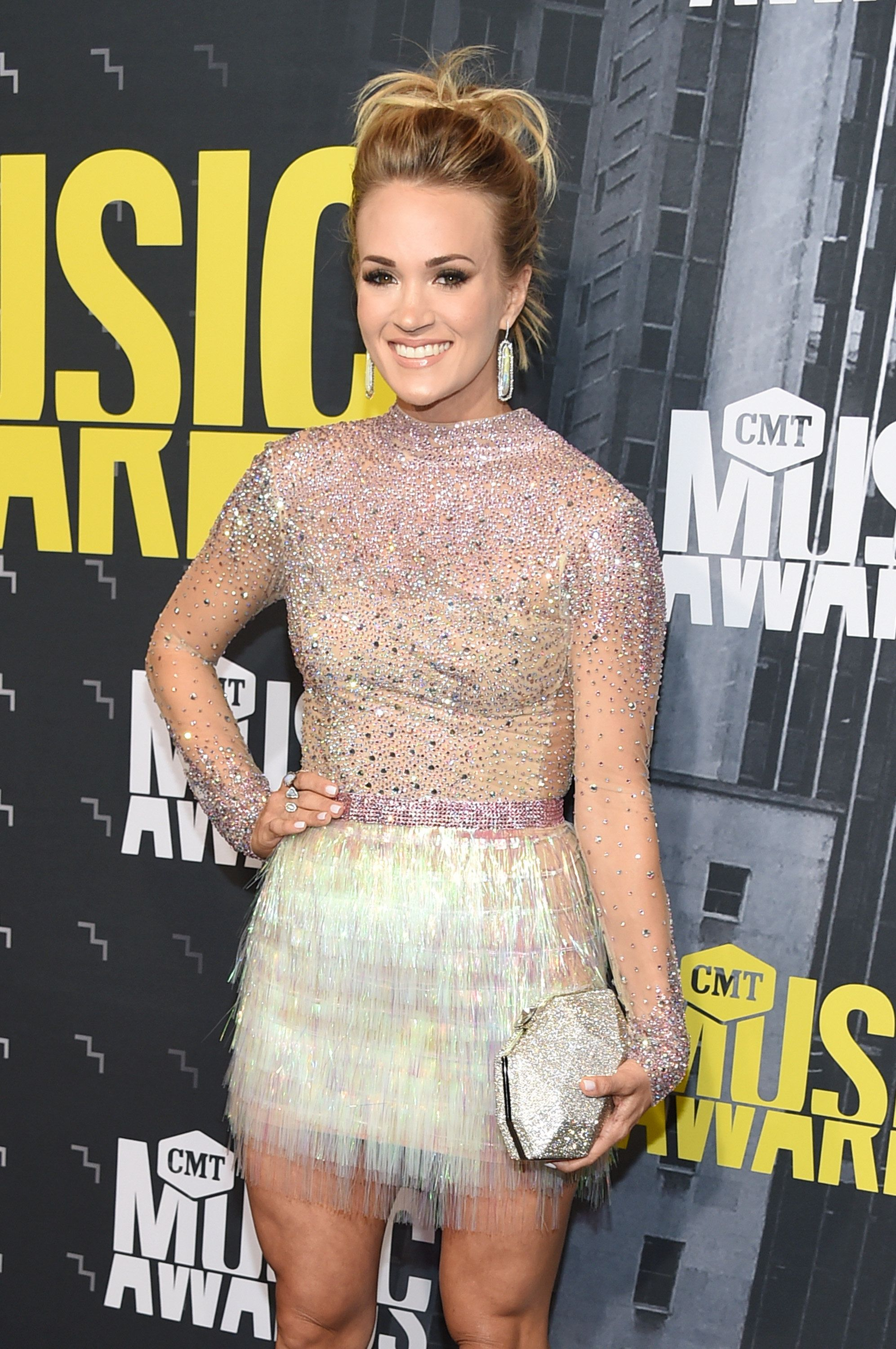 NASHVILLE, TN - JUNE 07:  Singer-songwriter Carrie Underwood attends the 2017 CMT Music Awards at the Music City Center on June 7, 2017 in Nashville, Tennessee.  (Photo by Michael Loccisano/Getty Images For CMT)