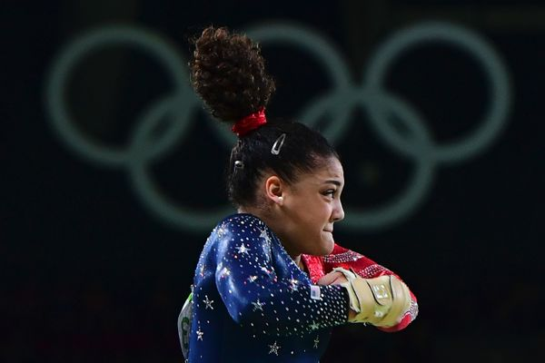 U.S. gymnast Laurie Hernandez competes in the qualifying for the women's Vault event of the Artistic Gymnastics at the Olympi