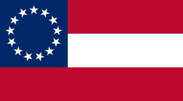 The National Flag of the Confederate States of America