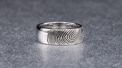 Husband Got Wife's Fingerprint Etched Onto His Wedding