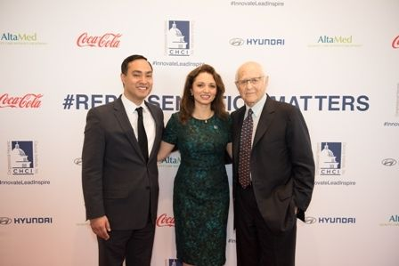 Rep. Joaquin Castro; TV producer Norman Lear, and CHCI President & CEO Domenika Lynch