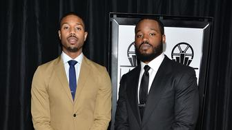 CENTURY CITY, CA - JANUARY 09:  Michael B. Jordan and Ryan Coogler attend the 40th Annual Los Angeles Film Critics Association Awards at InterContinental Hotel on January 9, 2016 in Century City, California.  (Photo by Araya Diaz/WireImage)