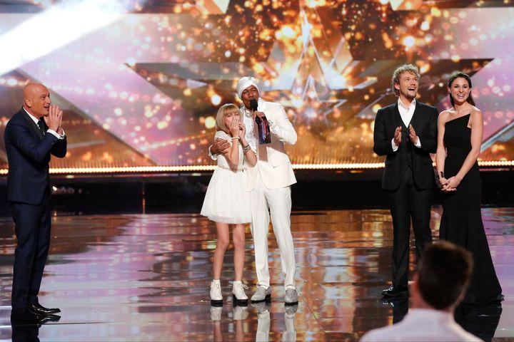 "Grace VanderWaal winning during the live season finale of ""America's Got Talent"" in 2016."