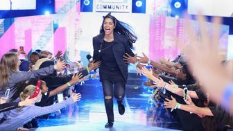 ST PAUL, MN - SEPTEMBER 20: Lilly Singh on stage during WE Day Minnesota at Xcel Energy Center on September 20, 2016 in St Paul, Minnesota. (Photo by Adam Bettcher/Getty Images for WE )