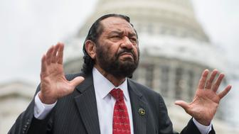 UNITED STATES - JUNE 23: Rep. Al Green, D-Texas, attends a demonstration on the East Front of the Capitol after the House Democrats' sit-in ended on the floor, June 23, 2016. The Democrats are calling on Republicans to allow a vote on measure to address gun violence. (Photo By Tom Williams/CQ Roll Call)