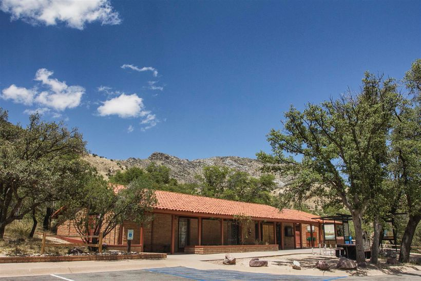 The visitor center offers a small museum, gift shop and advice on where to pick up trails.