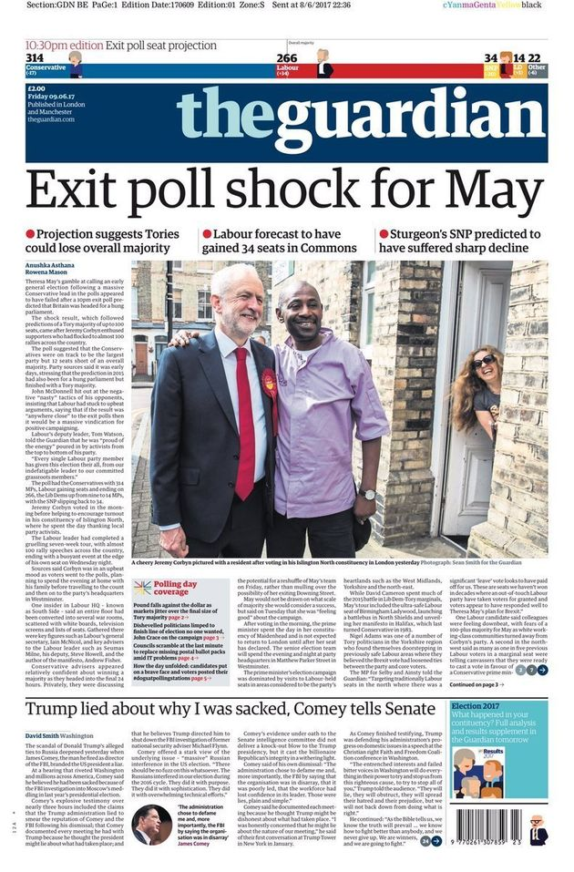 General Election Results 2017: First Newspaper Front Pages Show Shock At Exit