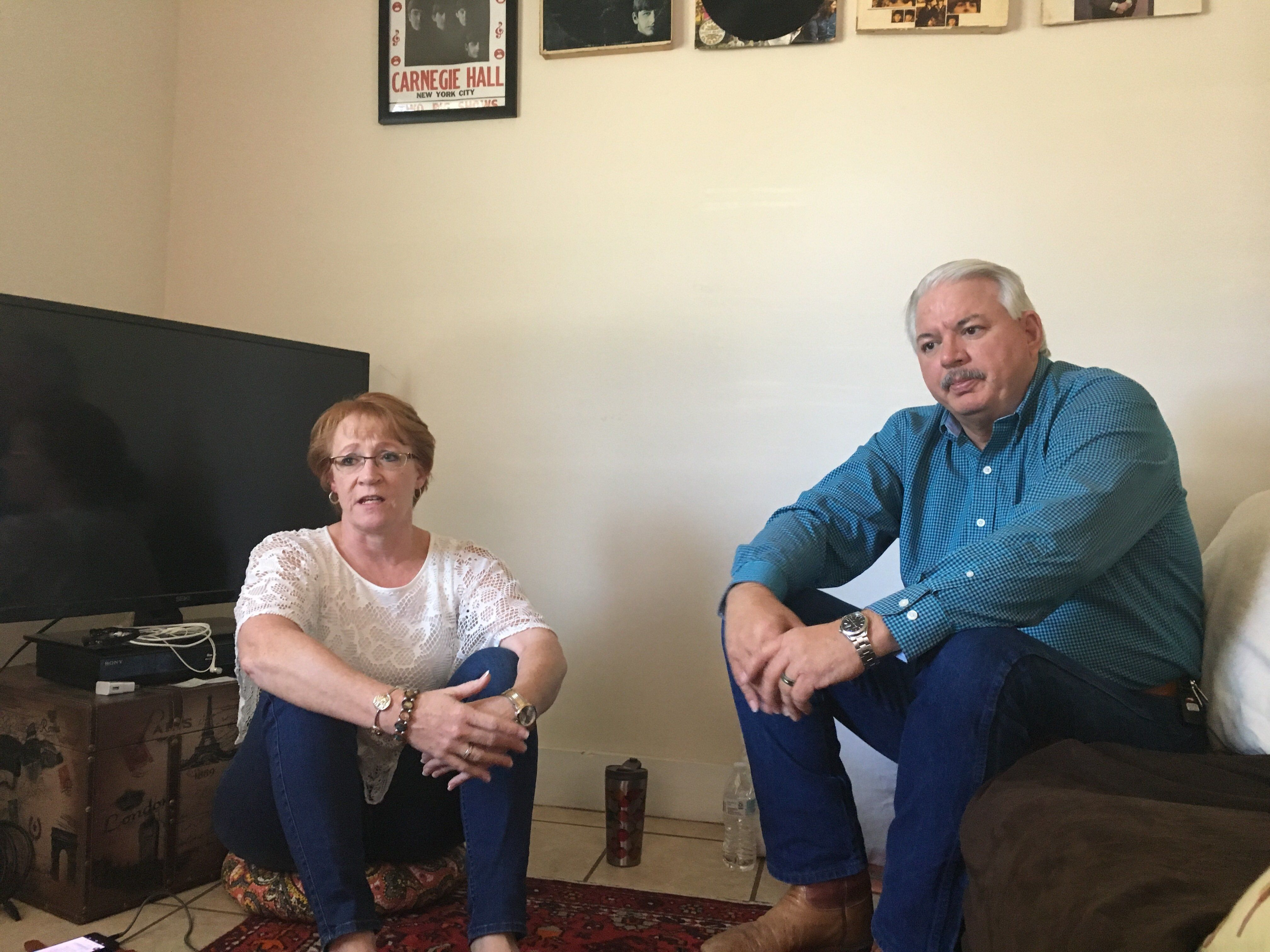 Billie Winner-Davis and her husband, Gary Davis, are staying in Reality Winner's Augusta, Georgia, home as they stand by her.