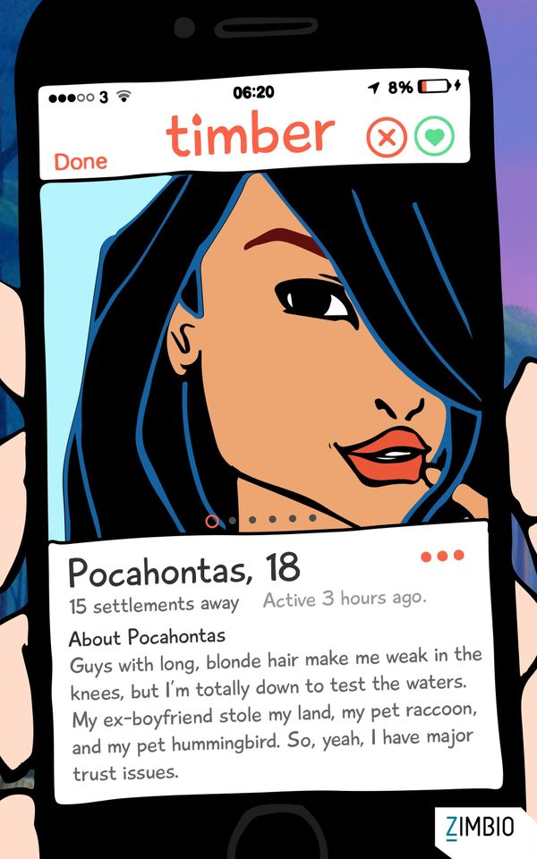 This Is What It Would Look Like If Disney Characters Used Dating Apps 5939ed7c190000b04f3e5522