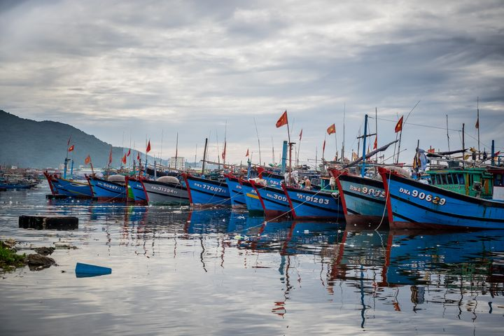 Fishing boats at Thuan Phuoc port in Danang, Vietnam. Vietnam is locked in a dispute with the Chinese government ov