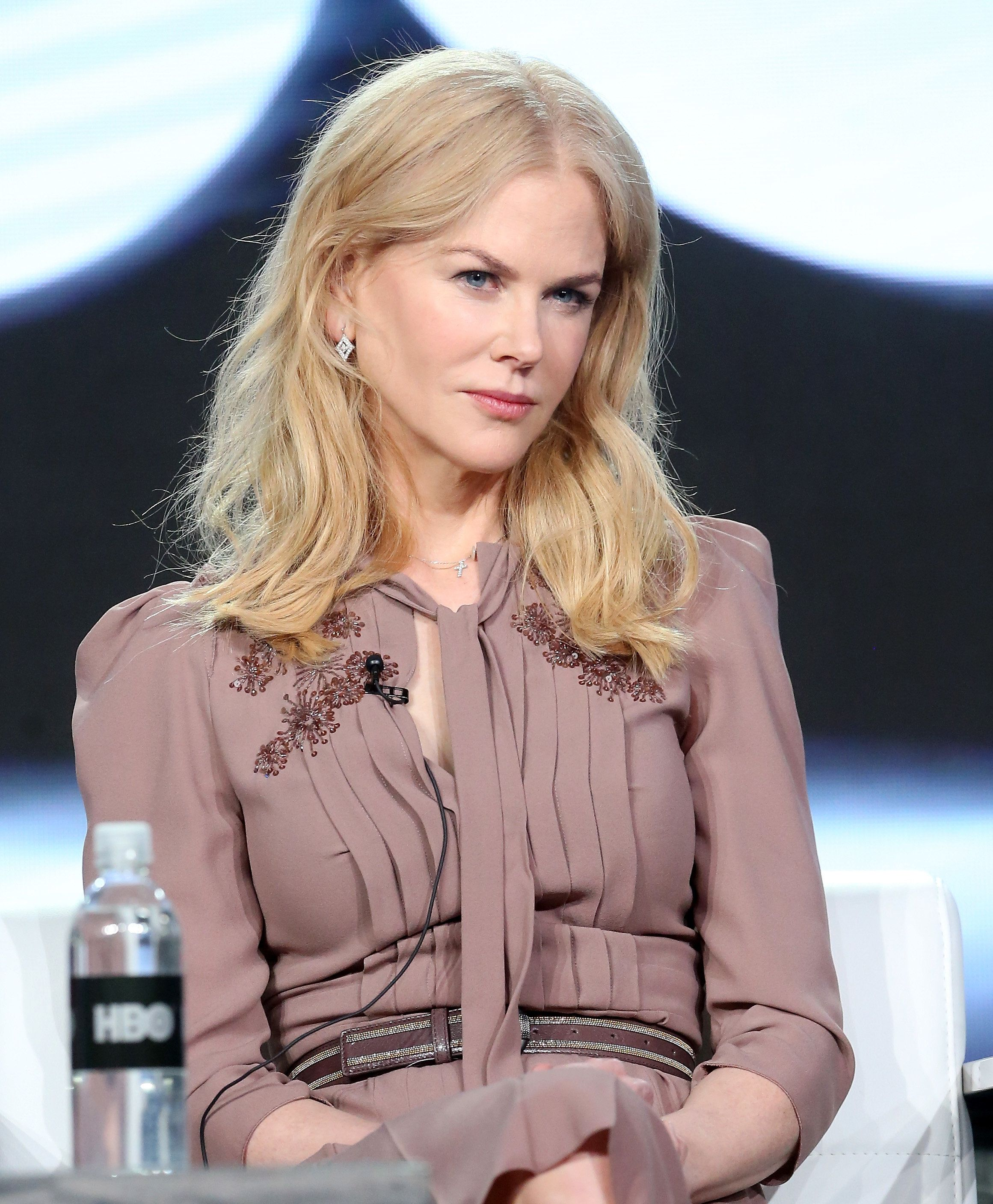 PASADENA, CA - JANUARY 14:  Executive producer/actress Nicole Kidman of the series 'Big Little Lies' speaks onstage during the HBO portion of the 2017 Winter Television Critics Association Press Tour at the Langham Hotel on January 14, 2017 in Pasadena, California.  (Photo by Frederick M. Brown/Getty Images)
