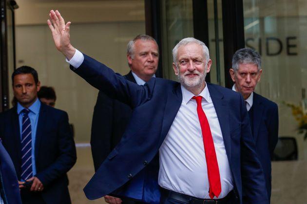 Jeremy Corbyn arrives at Labour