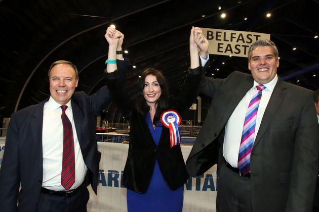 Democratic Unionist Party leader Nigel Dodds (left)