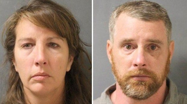 ChaunaThompson, left, and her husband, Terry, were taken into custody Thursday night.