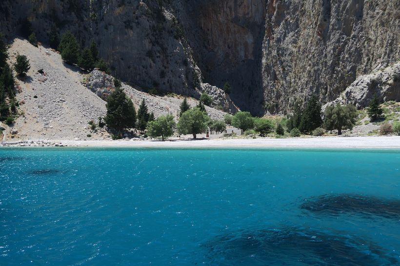 A deserted bay in Symi