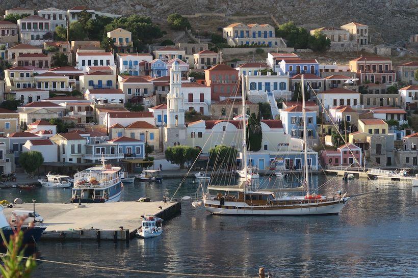 The Naviga I moored up at Chalki