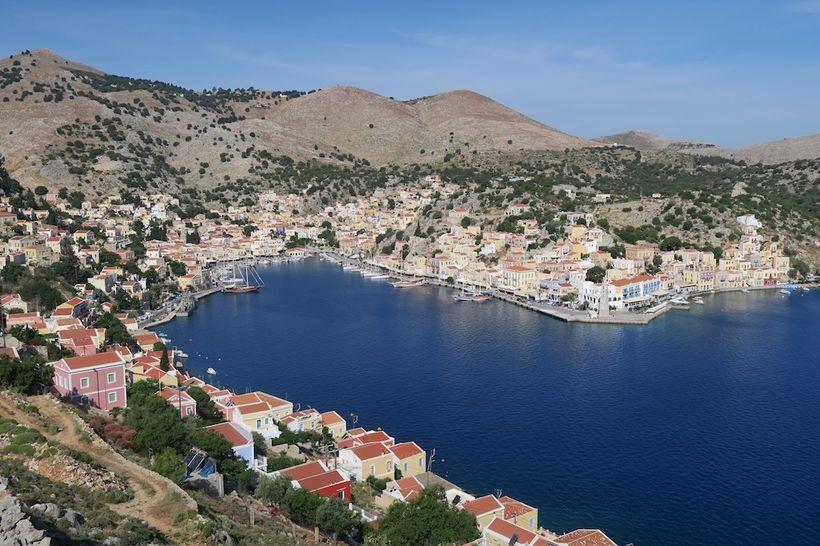 The picturesque harbour at Symi
