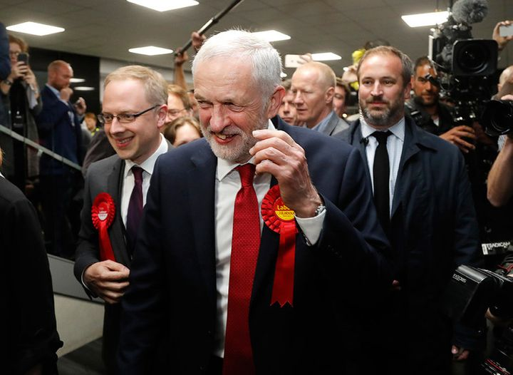 Corbyn and his Labour Party had reasons to smile on election night.