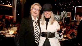 HOLLYWOOD, CA - JUNE 08:  Actor Meryl Streep and honoree Diane Keaton onstage during American Film Institute's 45th Life Achievement Award Gala Tribute to Diane Keaton at Dolby Theatre on June 8, 2017 in Hollywood, California. 26658_002  (Photo by Christopher Polk/Getty Images for Turner)