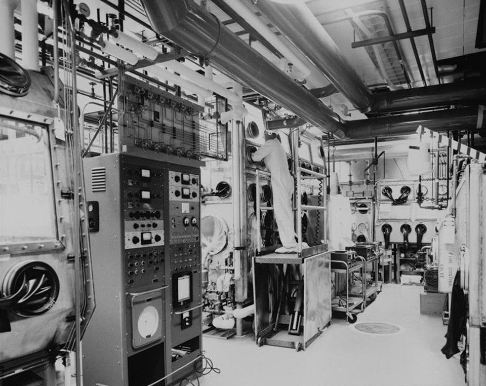 Building 771's plutonium recovery and fabrication facility on June 20, 1960.
