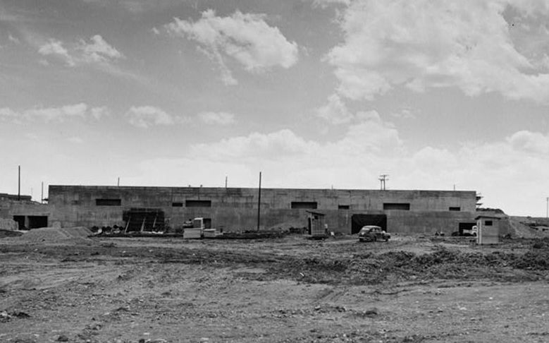 Building 771 at Rocky Flats under construction in the 1950s.