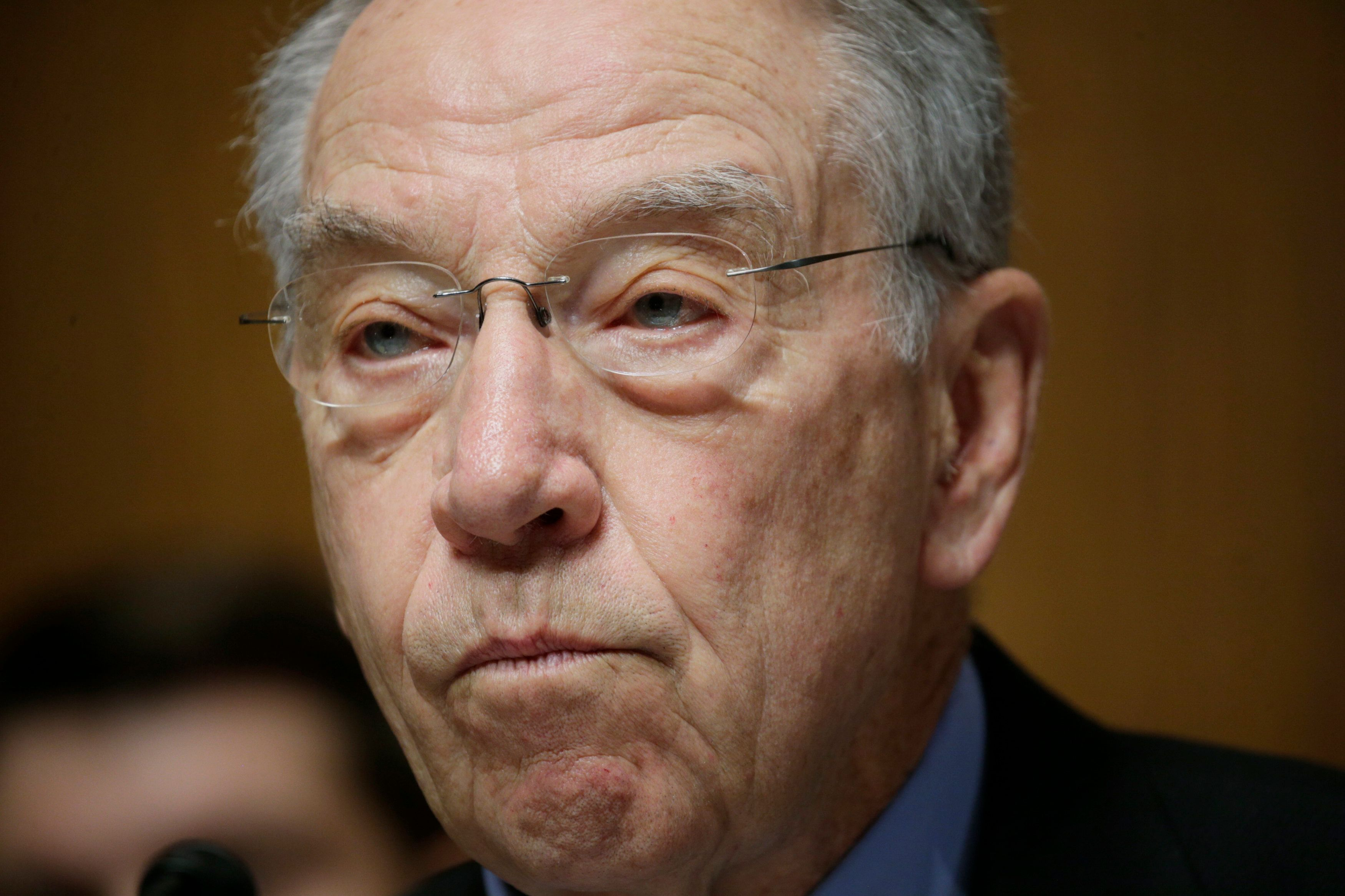 "Sen. Charles Grassley warned President Trump that he is being ""ill-served and ill-advised."""