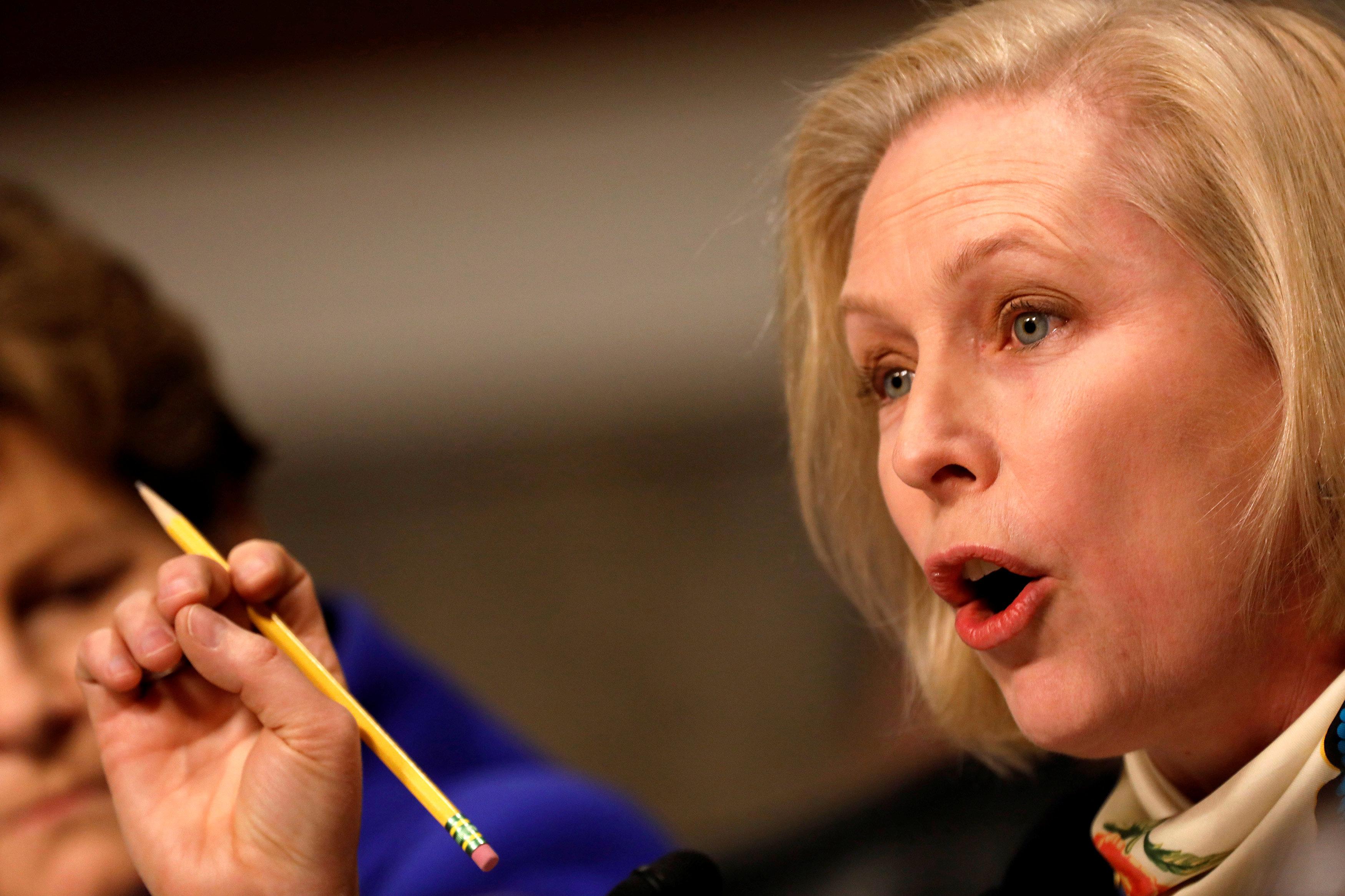 "Sen. <a href=""http://www.huffingtonpost.com/topic/kirsten-gillibrand"" target=""_blank"">Kirsten Gillibrand</a> (D-N.Y.) has del"
