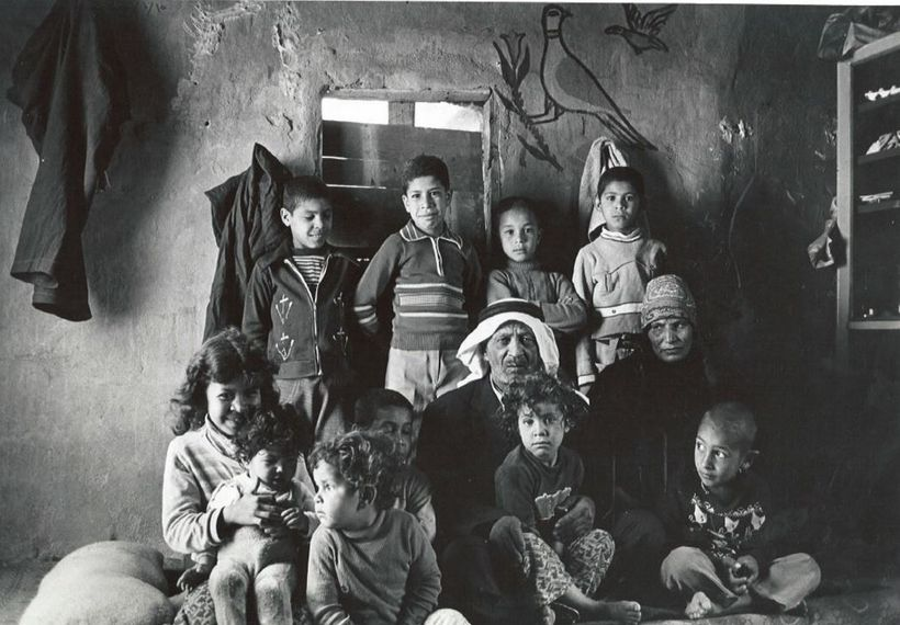 Mousa and his family in Jaramana Palestinian refugee camp in Syria.