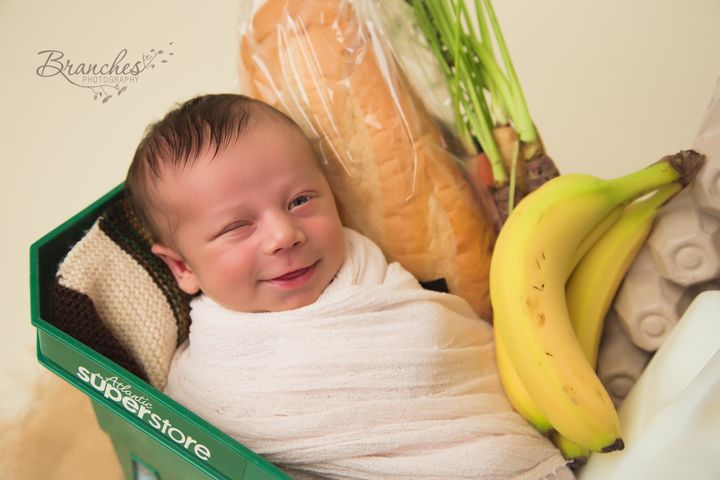 Baby Ezra was born in a grocery store.