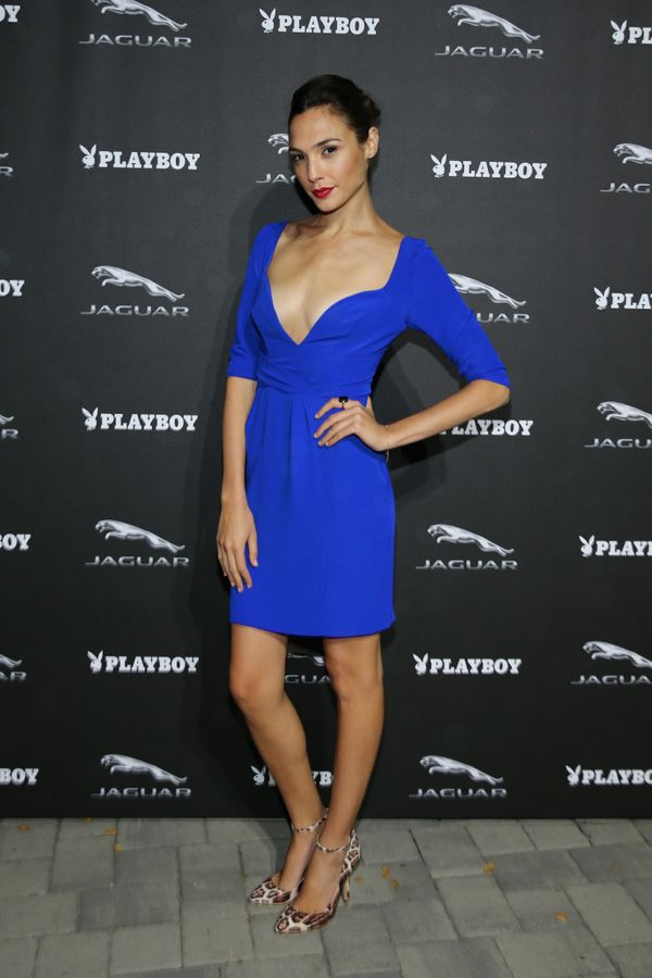 At a reception forJaguar and Playboy Magazine.