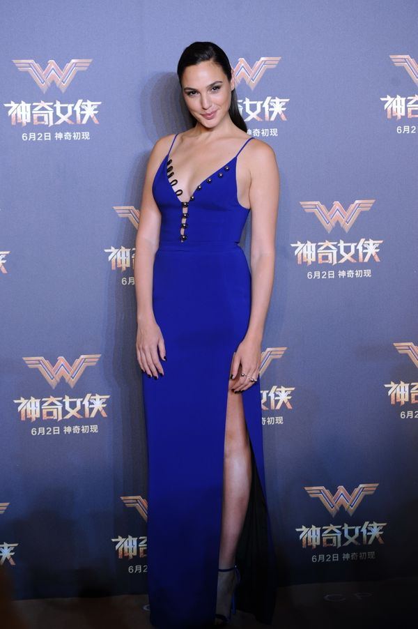 """At a press conference for """"Wonder Woman."""""""
