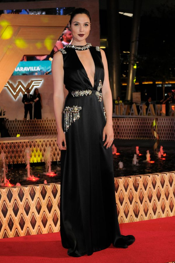 """At the premiere of """"Wonder Woman"""" in Mexico."""