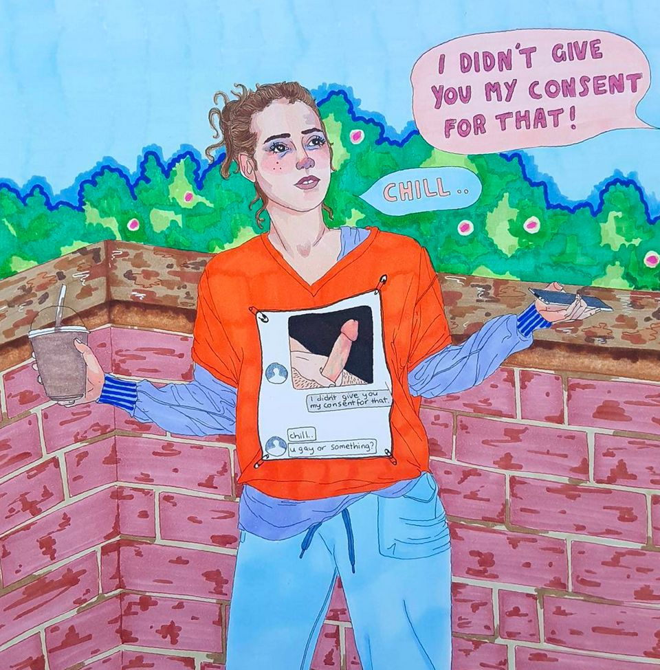 How 150 Unsolicited Dick Pics Are Bringing Women Artists