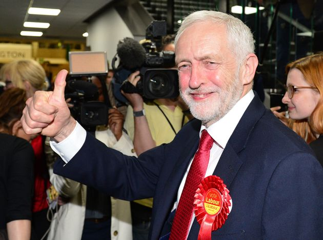 Labour leader Jeremy Corbyn arrives at the Sobell Leisure Centre in Islington, north London on election