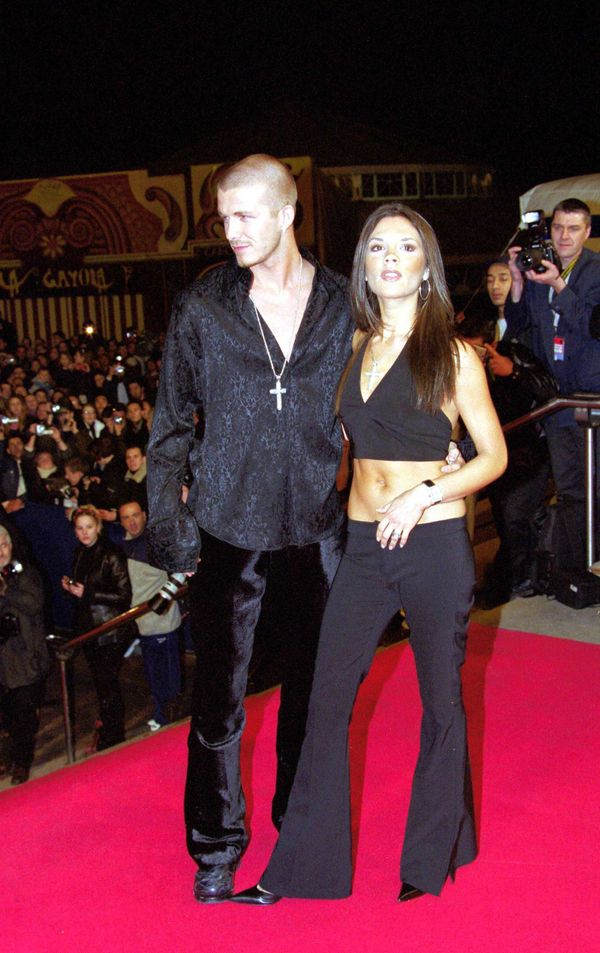 The duo flaunted V-necks at France's NRJ Music Awards in 2001.