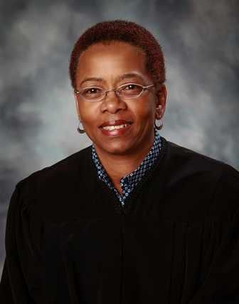 Portrait of Judge Staci M. Yandle, that sits outside of her Courtroom in the U.S. District Court for the Southern District of
