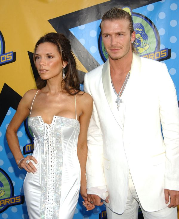 The pair chose white silk for the 2003 MTV Movie Awards in Los Angeles.