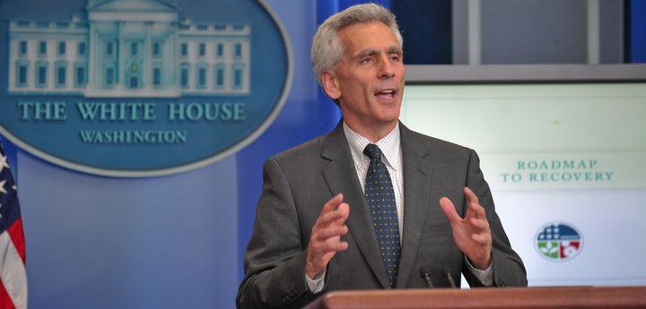 Jared Bernstein, chief economist and economic policy adviser to Vice President Joe Biden, speaks at the daily White House bri