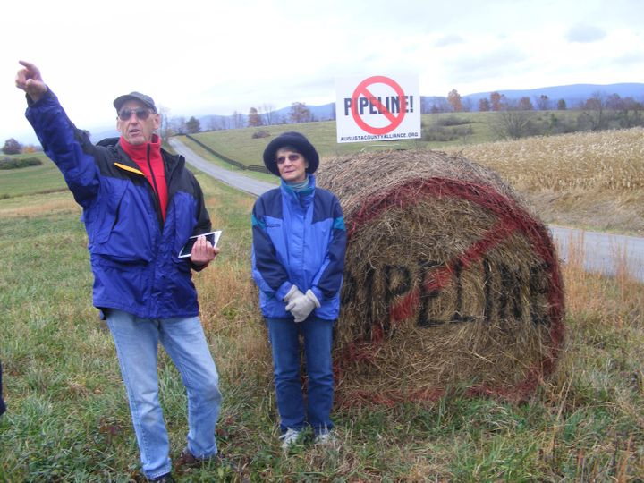 Fred and Bonnie Powell'sfarmland lies alongthe proposed route of the Atlantic Coast Pipeline through Augusta Coun