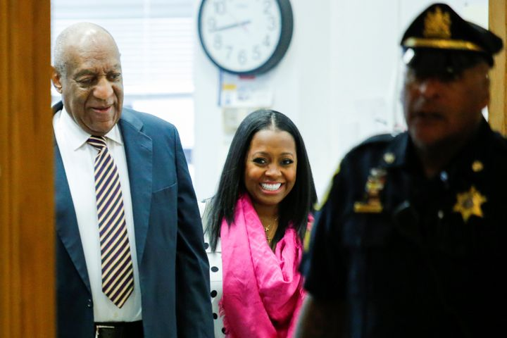 Bill Cosby arrives Monday for the first day of his sexual assault trial accompanied by actress Keshia Knight Pulliam, wh
