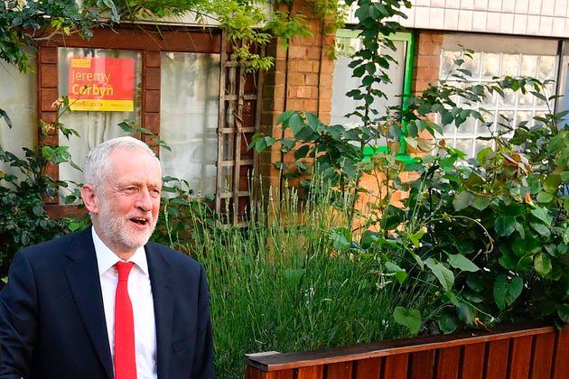 Jeremy Corbyn outside his Islington