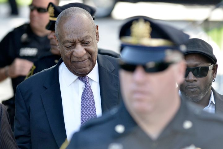 Bill Cosby arrives at the Montgomery County Courthouse on Friday.