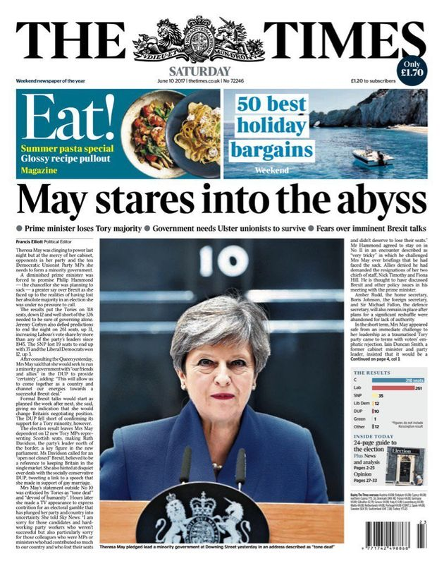 Theresa May Faces Wrath Of Tory-Backing Newspapers After General Election