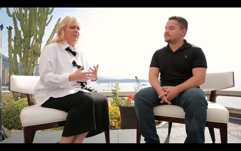 Brian Roberts interviews Audette Exel, founder and chair of the Adara Group, at the 2017 EY World Entrepreneur of the Year Fo