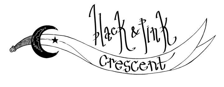 Black and Pink Crescent logo