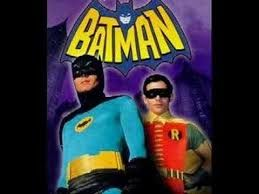 Batman (Adam West) and Robin (Burt Ward) in the colorful 1960s TV show.