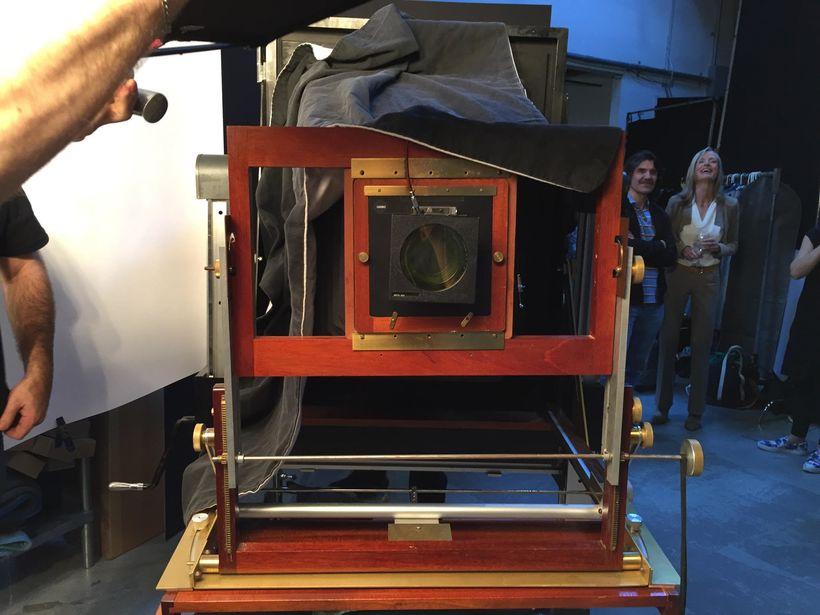 The 20'x24' Polaroid machine at LinkedIn.
