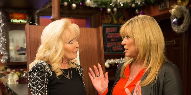 Claire, with Beverley Callard, in