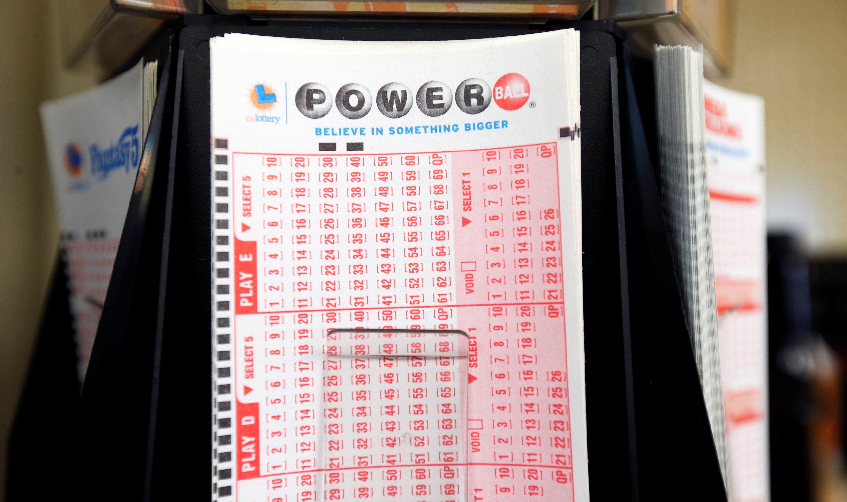 Lottery stubs are pictured at an ampm convenience store in Pasadena, California U.S., November 21, 2016. (REUTERS/Mario Anzuo