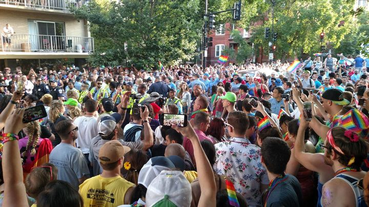 The protesters submitted a list of demands to the organizers of the annual Capital Pride Parade.